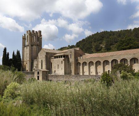 Visite de l'abbaye de Lagrasse