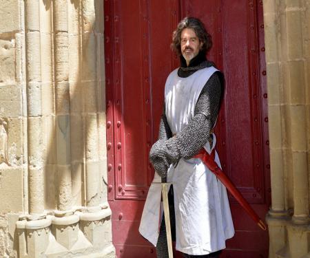 Rencontre avec un chevalier à Carcassonne